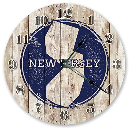 "10.5"" NEW JERSEY STATE STAMP CLOCK"