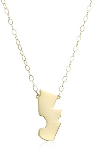 10k yellow gold new jersey state pendant necklace 162 extender 10k yellow gold new jersey state pendant necklace aloadofball Image collections