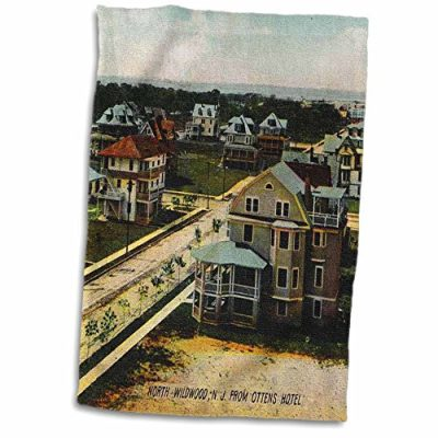 3dRose-Sandy-Mertens-New-Jersey-North-Wildwood-NJ-in-1908-12x18-Hand-Towel-twl473411-0