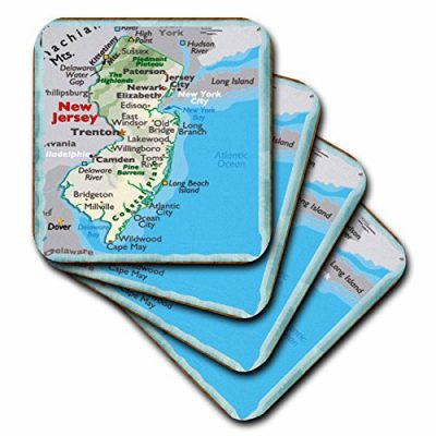 3dRose-cst390341-Framed-Map-of-New-Jersey-Soft-Coasters-Set-of-4-0