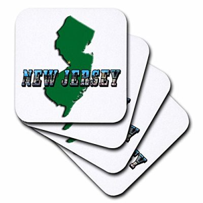 3dRose-cst603033-State-Map-of-New-Jersey-and-Picture-Text-Ceramic-Tile-Coasters-Set-of-4-0
