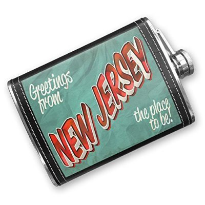 8oz-Flask-Stitched-Greetings-from-New-Jersey-Vintage-Postcard-Stainless-Steel-Neonblond-0