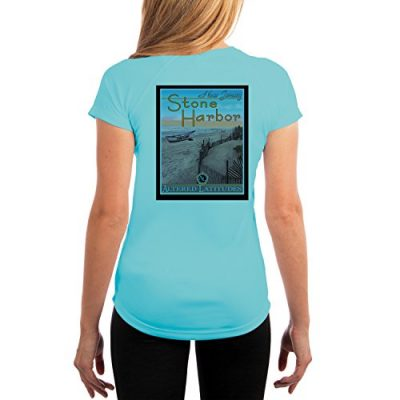 Altered-Latitudes-Vintage-Destination-Womens-Stone-Harbor-NJ-UPF-Performance-T-shirt-XX-Large-Water-Blue-0