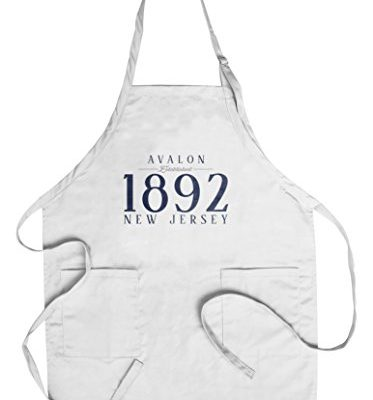 Avalon-New-Jersey-Established-Date-Blue-CottonPolyester-Chefs-Apron-0