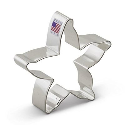 Beach-Cookie-Cutter-Set-2-Pieces-Starfish-and-Seashell--Ann-Clark--US-Tin-Plated-Steel-0-0