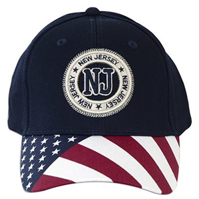 CPNJ02-Robin-Ruth-Cap-New-Jersey-Stamp-with-US-Flag-NAVY-0