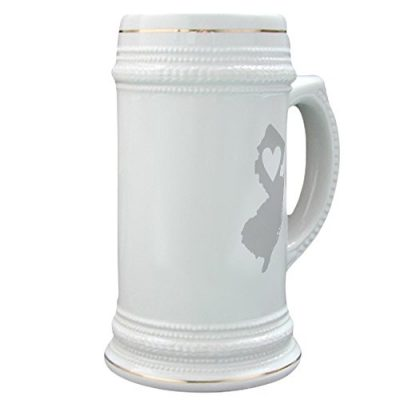 CafePress-Heart-New-Jersey-Beer-Stein-22-oz-Ceramic-Beer-Mug-with-Gold-Trim-0