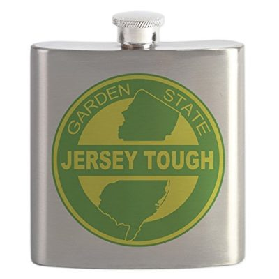 CafePress-New-Jersey-Strong-Stainless-Steel-Flask-6oz-Drinking-Flask-0-0