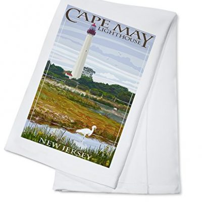 Cape-May-Lighthouse-New-Jersey-Shore-100-Cotton-Kitchen-Towel-0