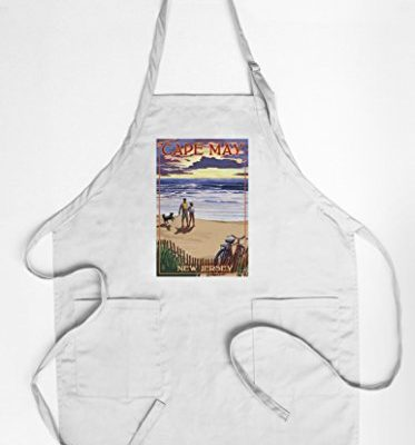 Cape-May-New-Jersey-Beach-and-Sunset-CottonPolyester-Chefs-Apron-0