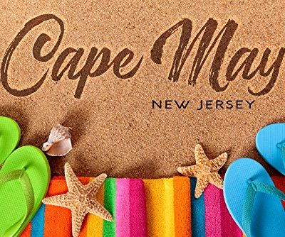 Cape-May-New-Jersey-Flip-Flops-on-Beach-CottonPolyester-Chefs-Apron-0-1