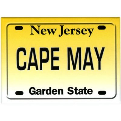 Cape-May-New-Jersey-License-Plate-Fridge-Collectors-Souvenir-Magnet-25-X-35-0