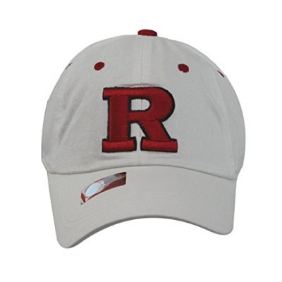 Captivating-Headgear-Mens-Fashion-Rutgers-Scarlet-Knights-Embroidered-Cap-White-0