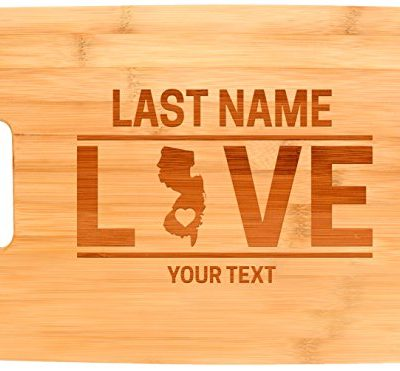 Custom-Any-Text-Love-New-Jersey-Garden-State-Personalized-Big-Rectangle-Bamboo-Cutting-Board-0