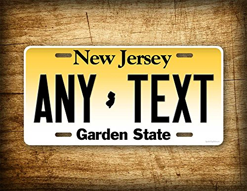 Custom new jersey license plate any text personalized nj for Nj fishing license 2017