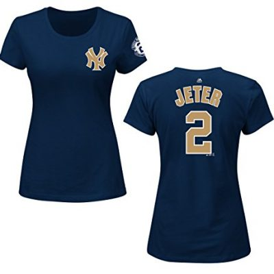 Derek-Jeter-New-York-Yankees-Womens-Gold-Final-Season-Player-T-Shirt-Large-0