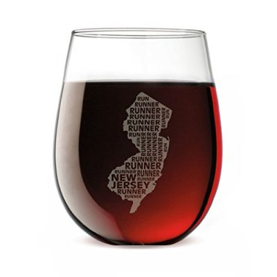 Gone-For-a-Run-Stemless-Wine-Glass-New-Jersey-State-Runner-0