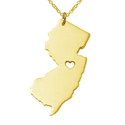 Graceful-New-Jersey-Map-Pendant-Necklace-Long-Chain-Heart-Cutout-Stainless-Steel-Patriot-Pendant-Necklace-Gold-0