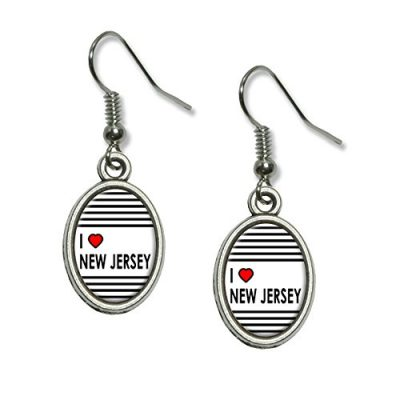 Graphics-and-More-I-Love-Heart-New-Jersey-Novelty-Dangling-Drop-Oval-Charm-Earrings-0