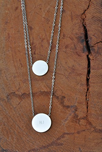 Huan xun new jersey nj state map necklace with heart disc pendant aloadofball Images