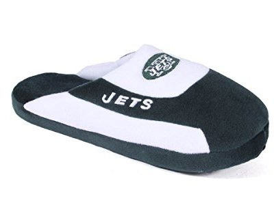 Happy-Feet-Mens-and-Womens-New-York-Jets-Low-Pro-Slippers-Large-0