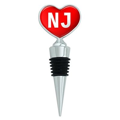 Heart-Love-Wine-Bottle-Stopper-I-Love-Heart-Places-Things-N-O-NJ-Red-0