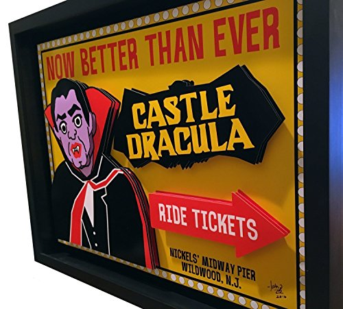 Home Decor Shore Art Wildwood Castle Dracula 3D Art New