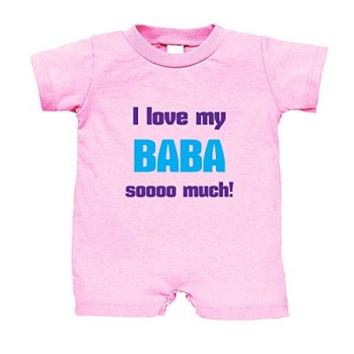 I-Love-My-Baba-Sooo-Much-Cotton-Infant-Baby-Jersey-Tee-T-Romper-Soft-Pink-6-Months-0