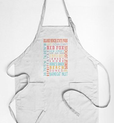 Island-Beach-State-Park-New-Jersey-Typography-Quality-CottonPolyester-Chefs-Apron-0