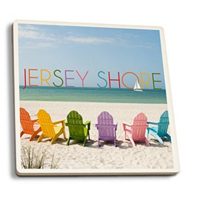 Jersey-Shore-Colorful-Chairs-Set-of-4-Ceramic-Coasters-Cork-backed-Absorbent-0