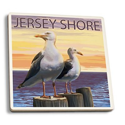 Jersey-Shore-Seagulls-Set-of-4-Ceramic-Coasters-Cork-backed-Absorbent-0
