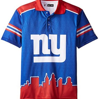 KLEW-NFL-New-York-Giants-Polyester-Short-Sleeve-Thematic-Polo-Shirt-Blue-Large-0