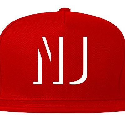 Kings-Of-NY-NJ-New-Jersey-Abbreviation-State-Snapback-Hat-Red-0