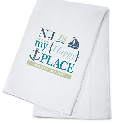 Lavallette-New-Jersey-NJ-Is-My-Happy-Place-2-100-Cotton-Absorbent-Kitchen-Towel-0