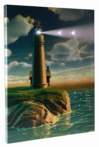 Light Up Seaside Lighthouse Wall Hanging Painting With