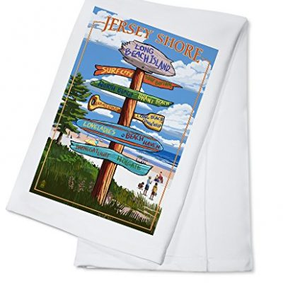 Long-Beach-Island-New-Jersey-Destination-Sign-100-Cotton-Kitchen-Towel-0