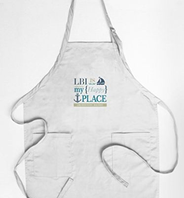 Long-Beach-Island-New-Jersey-LBI-Is-My-Happy-Place-2-CottonPolyester-Chefs-Apron-0