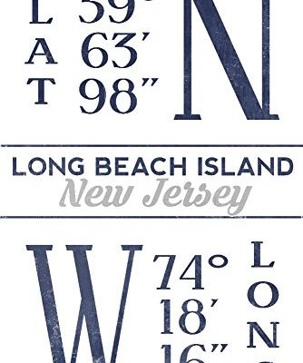 Long-Beach-Island-New-Jersey-Latitude-and-Longitude-Blue-CottonPolyester-Chefs-Apron-0-1