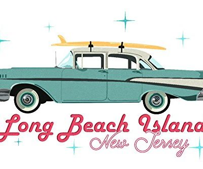 Long-Beach-Island-New-Jersey-Retro-Chevy-CottonPolyester-Chefs-Apron-0-1