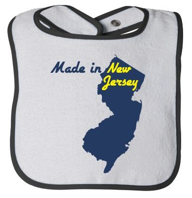MADE-IN-NEW-JERSEY-Baby-Feeding-Bib-Cute-Funny-Infant-Newborn-NJ-Humor-0
