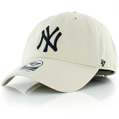 MLB-New-York-Yankees-Mens-47-Brand-Clean-Up-Cap-Natural-One-Size-0