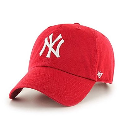 MLB-New-York-Yankees-Mens-47-Brand-Clean-Up-Cap-Red-One-Size-0