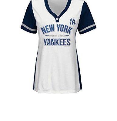MLB-New-York-Yankees-Womens-Team-Name-Rugged-Competitor-Pull-Over-Color-Block-Jersey-Medium-WhiteAthletic-Navy-0