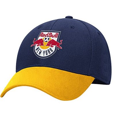 MLS-M729Z-New-York-Red-Bulls-Mens-Structured-Flex-Jersey-Hook-Hat-LargeX-Large-BlueGold-0