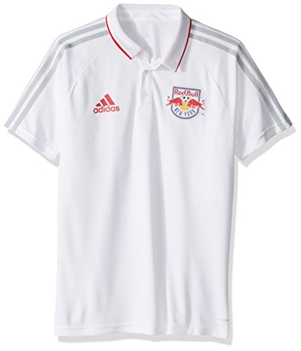 timeless design 6dc14 55043 MLS New York Red Bulls Men's Authentic Sideline Coaches Polo, X-Large, White