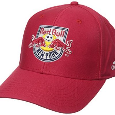 MLS-New-York-Red-Bulls-Mens-Basic-Structured-Adjustable-Cap-One-Size-Red-0