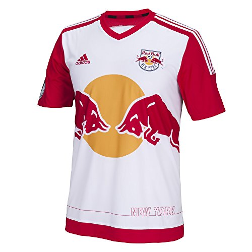 40f7410aa4d MLS New York Red Bulls Men's Replica Short Sleeve Team Jersey, White ...