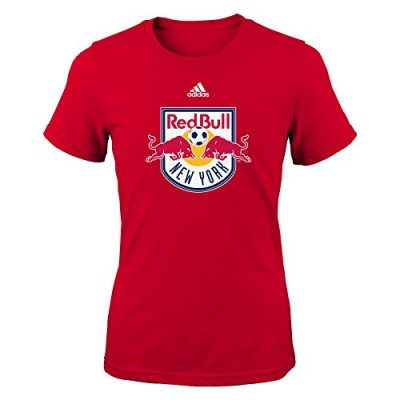 MLS-New-York-Red-Bulls-Primary-Logo-Girls-7-16-Short-Sleeve-Tee-Small-Red-0