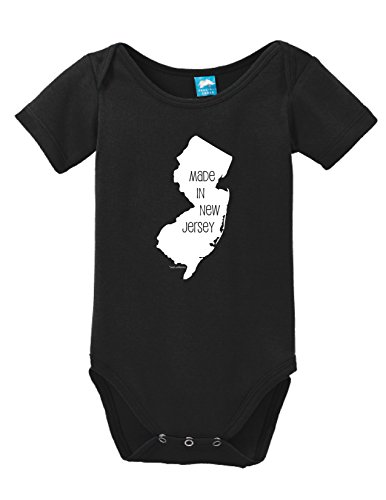 b76c1b557 Made In New Jersey Printed Infant Bodysuit Baby Romper Black 3-6 Month