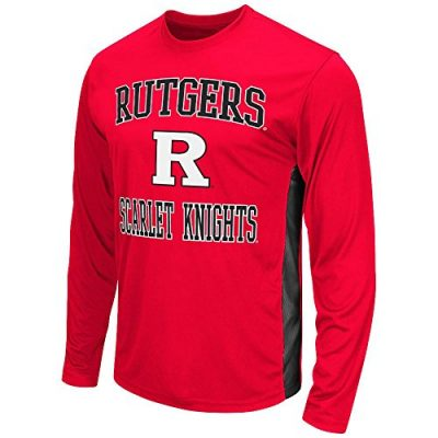 Mens-NCAA-Rutgers-Scarlet-Knights-Long-Sleeve-Performance-Tee-Shirt-Team-Color-M-0